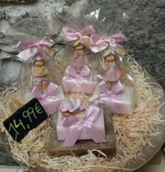 Sheepmilk Soap - square cut -flower fairy