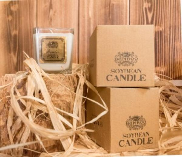 Soya Bean Jar Candles - Bamboo